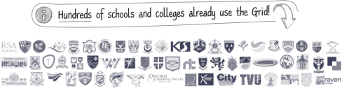 Hundreds of schools and colleges already use the Grid to record activities, lessons, challenge events etc.