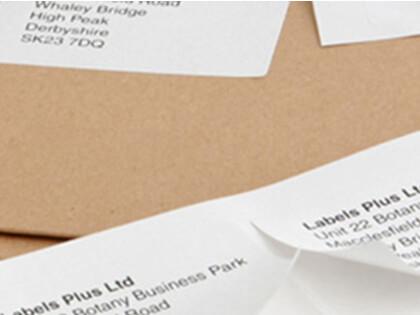 Plain A4 Labels