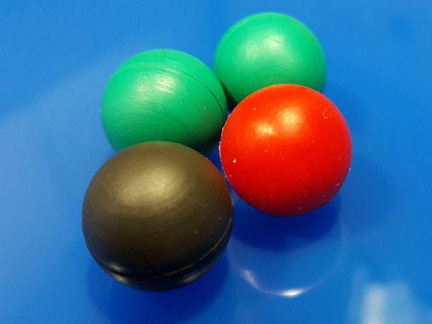 Rubber and viton balls