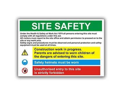 Construction Site Management Signage