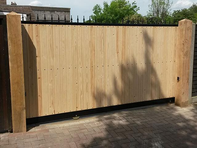 Wooden Automated Sliding Gates