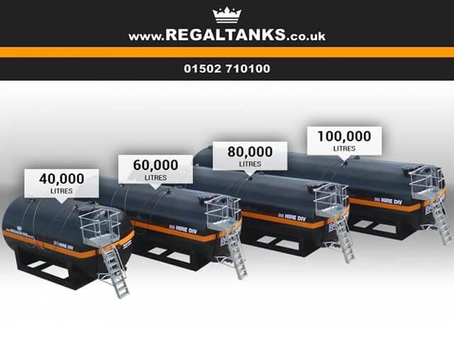40m3 - 100m3 Storage Tank Hire