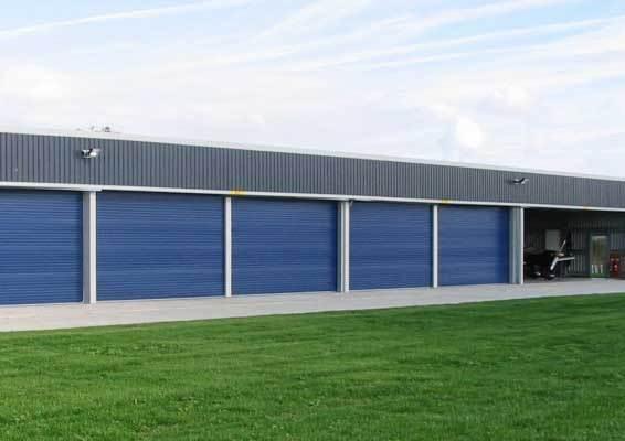 MiraceLite hangar with large opening