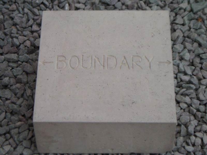 Concrete Marker Block - Boundary