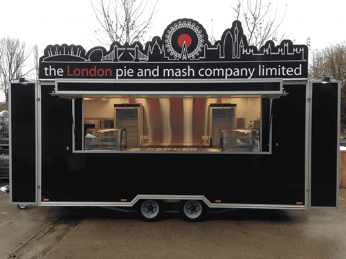 Pie and Mash Catering Trailer