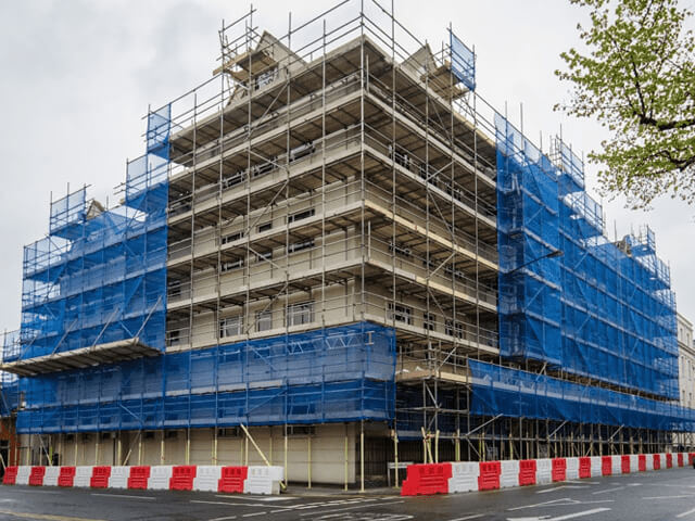 Access Scaffold Partly Sheeted