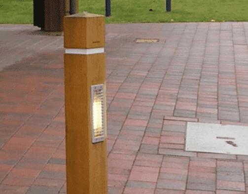 Illuminated Hardwood Timber Bollards