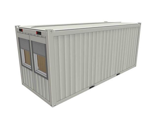 Portable cabin RAL 9010 Pure White