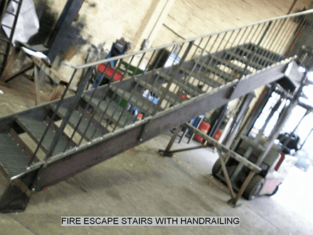 Fire Escape Stairs with Handrail