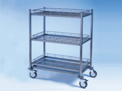 3 tier Vegetable Steel Trolleys