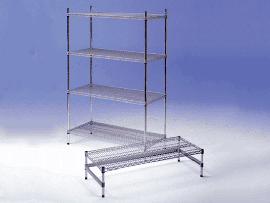 """""""Silver Seal"""" Powder Coated Wire Shelving System"""