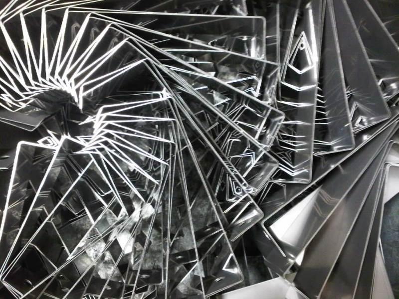 Folded stainless steel sheet metal brackets