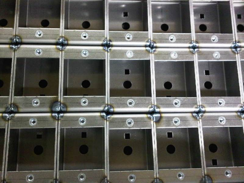 TiG welded mild steel sheet metal housings