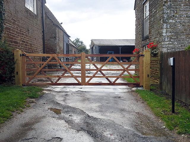 Wooden Vehicle Gates