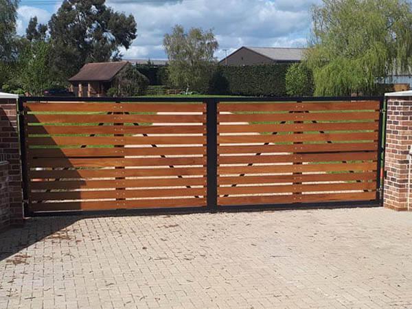 Metal Framed Wood Gates