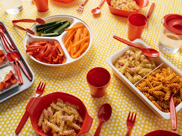 Trays, Plates, Cutlery & Cups