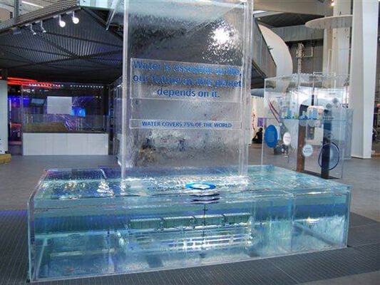 """Siemens """"The Crystal"""" Water tank and Water"""