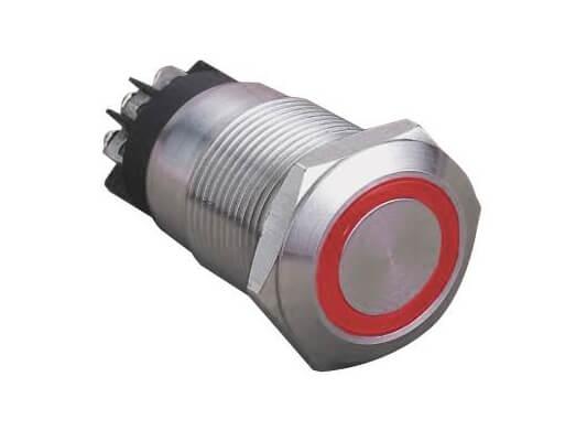 Ring illuminated IP67 anti vandal switch