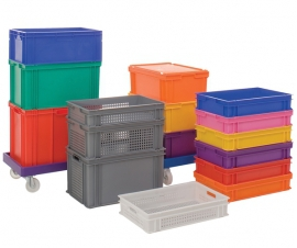 Coloured Euro Stacking Containers and Trays