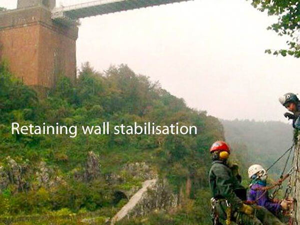 Abseil Access - Helifix Repair to Retaining Wall