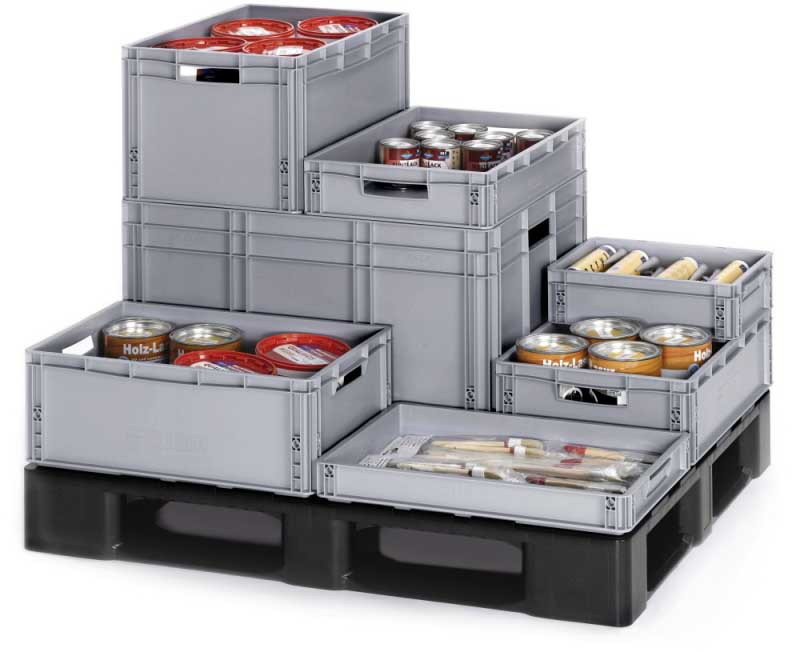 Heavy Duty Euro Plastic Stacking Containers & Boxe