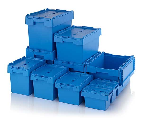 Attached Lid Boxes & Lidded Distribution Container