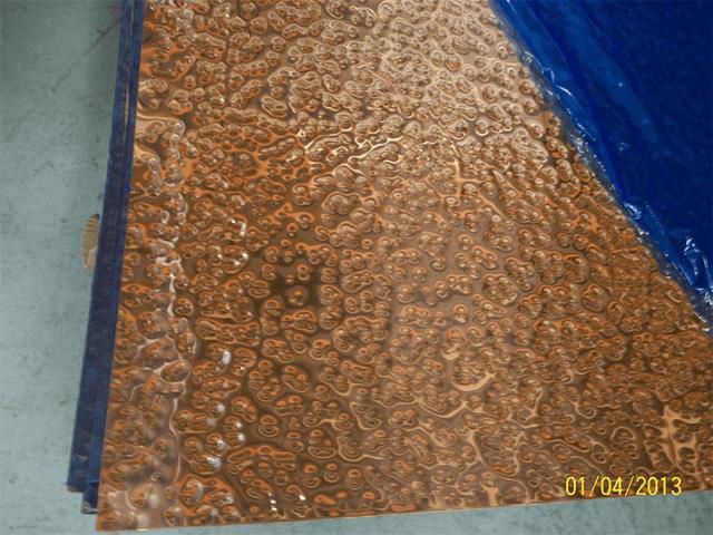 Hand Beaten Copper Sheet